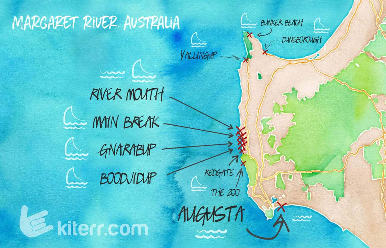 The best kitesurfing spots in Western Australia - Guide & Map // Kiterr.com