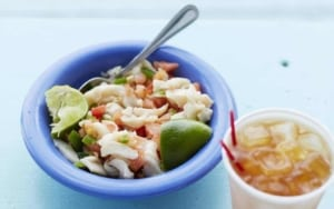 Seafood salad ( Yep, there's more conch! ) - Local food - Providenciales, Turks & Caicos Islands | Kiterr.com