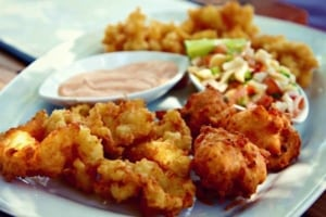 Delicious conch fritters - Local bite - Providenciales, Turks & Caicos Islands | Kiterr.com