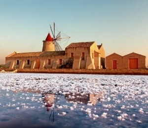 Lo Stagnone Natural Reserve - salt pans | The best kiteboarding spots in Sicily, Italy - Kiterr.com