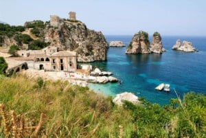 Coastal Scopello village - kitesurfing in Sicily | Kiterr.com