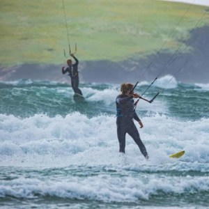 Kiteboarding on Keel Beach in Achill Island, Ireland // Kiterr.com