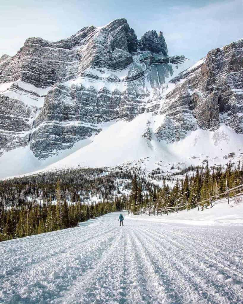The best snowkite spots in Spray Lakes, Alberta, Canada // Kiterr.com