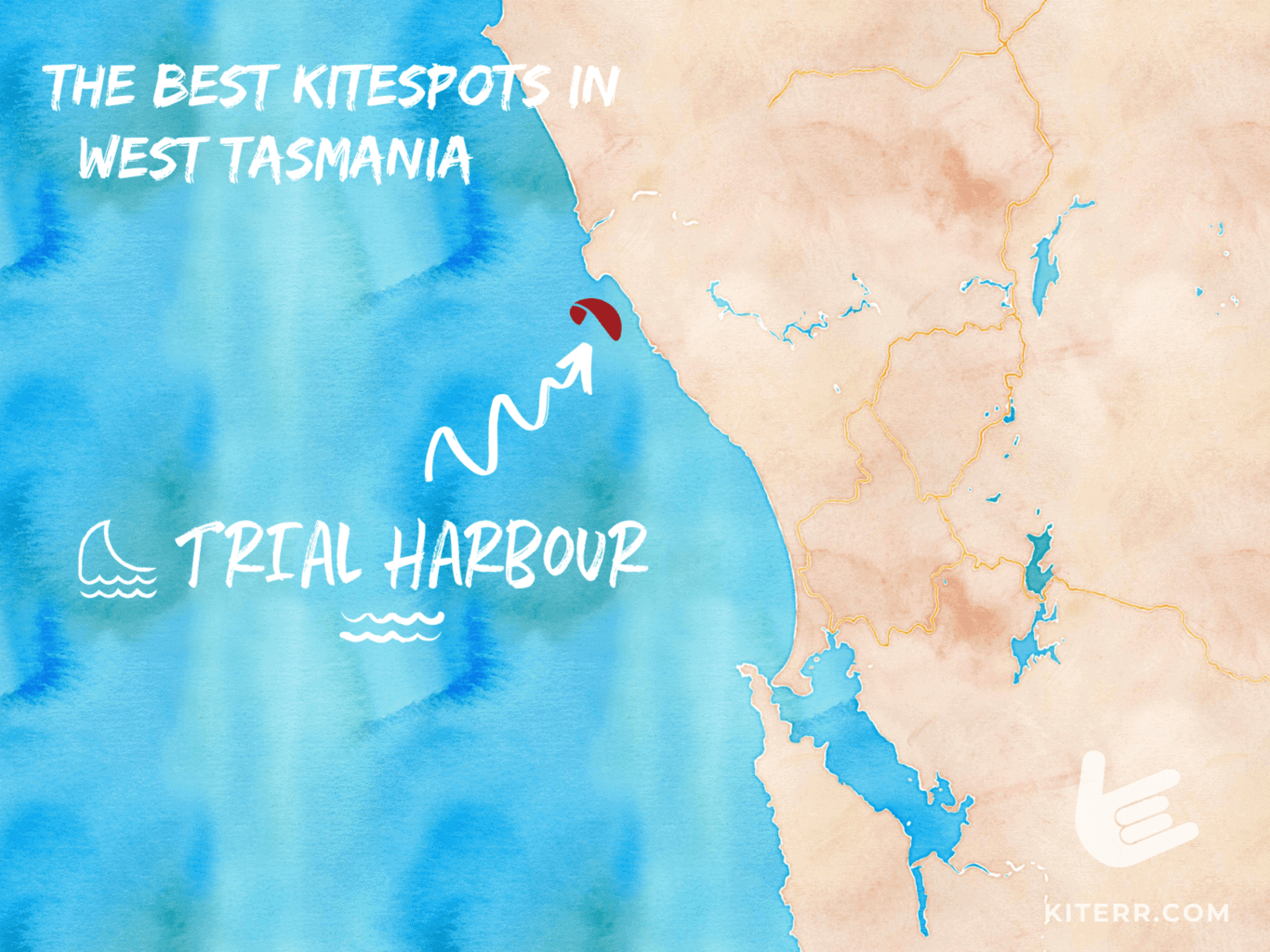 The best kitespots in West Tasmania // Kiterr.com