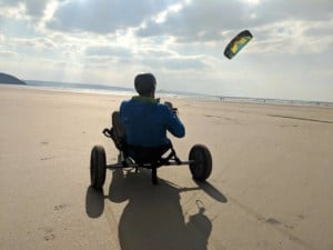 Landboarding & kite buggy in Westward Ho! and North of Devon, UK // Kiterr.com