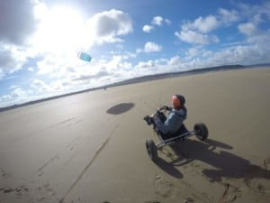 Landboarding & kite buggy in Westward Ho! & North of Devon, UK - map & spot guide // Kiterr.com