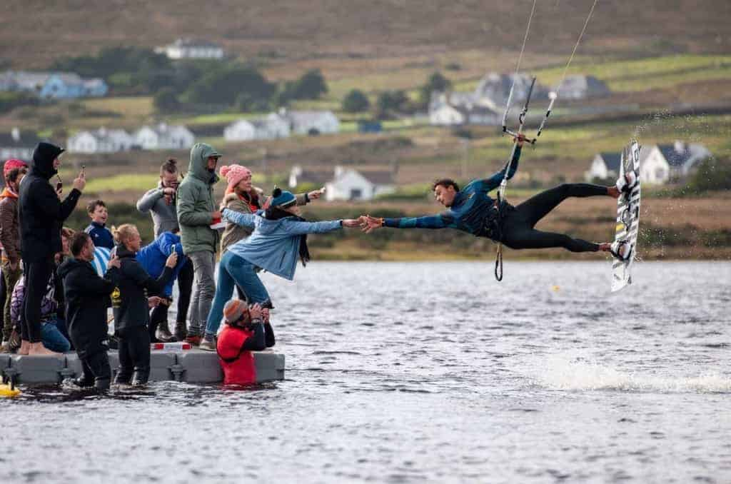 Battle for the Lake - Kiteboarding in Achill Island, Ireland // Kiterr.com