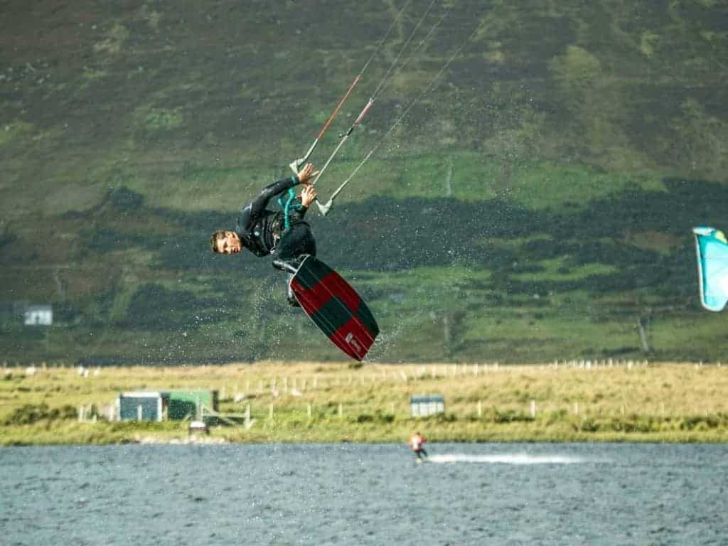 Battle for the Lake - Kiteboarding in Achill Island, Ireland - photo Stance Kiteboarding // Kiterr.com