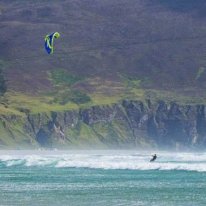 Kiteboarding on Keel Beach, Achill Island, Ireland - photo Pure Magic // Kiterr.com
