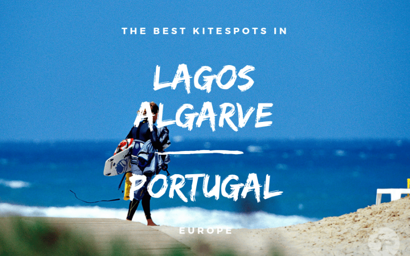 Kitesurfing in Lagos, Algarve, Portugal - Guide with map to the best kitespots | Kiterr.com