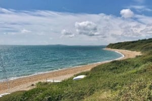 A view of Ringstead Bay, Dorset // Kiterr.com